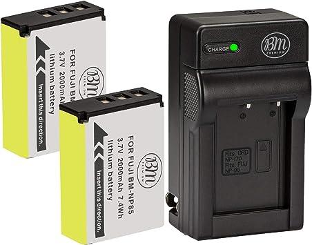 Amazon Com Bm Premium 2 Pack Of Np 85 Batteries And Charger Kit For Fujifilm Finepix S1 Sl240 Sl260 Sl280 Sl300 Sl305 Sl1000 Digital Camera Camera Photo