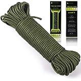 Paracord 550 Cordón de paracaídas –Tipo III 7Strand cuerda de nailon 100%