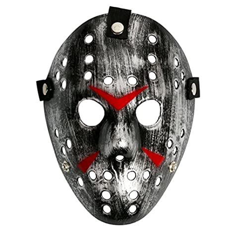 Amazon.com: Chen Friday The 13th Horror Hockey Jason Vs. Freddy Mask Halloween Costume Prop (Black): Clothing