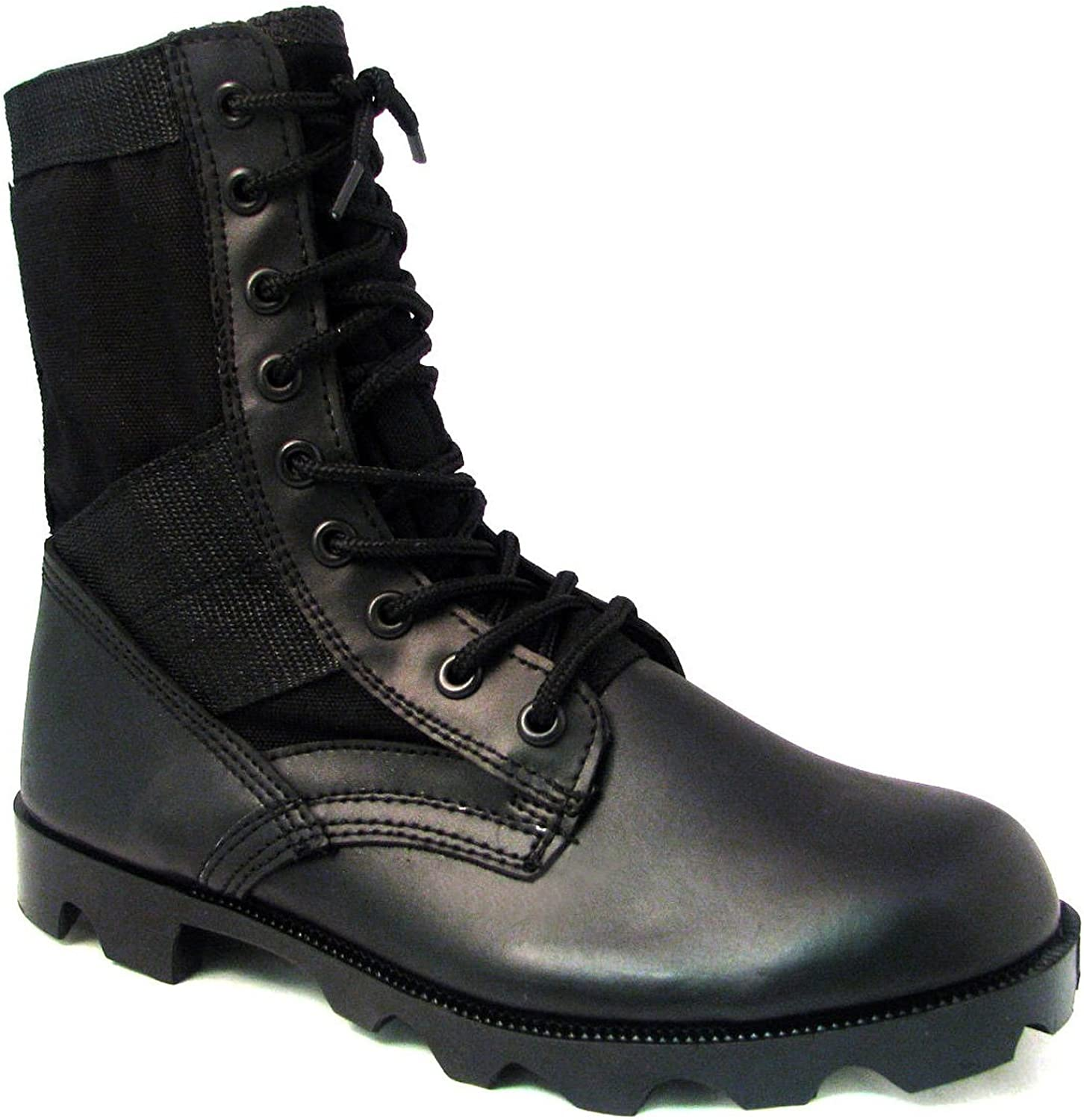 Men's Jungle Boots G.I. Type Lace up Tactical Combat Military Work Shoes Width: Wide (W or 2E), Black, Sand