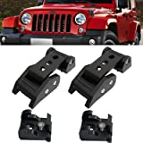 ArtSwithly Stainless Steel Black Hood Latches Catch Kit Compatible for Jeep Wrangler JK JKU 2007-2018 & 2018-2020 Jeep…