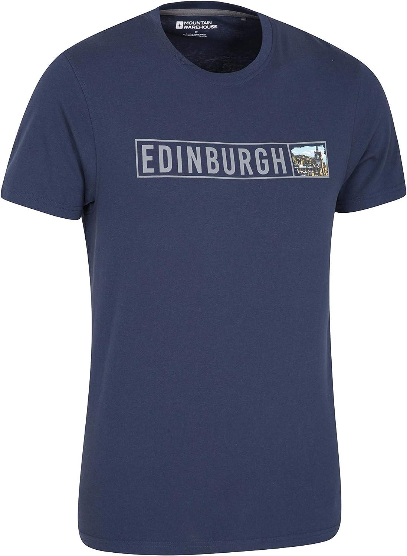 Mountain Warehouse Camiseta para Hombre Edinburgh - Ligera, protección UV, Ajuste Holgado, de Cuidado fácil - Ideal para Viajes, Deportes, Aire Libre, Gimnasio: Amazon.es: Ropa y accesorios