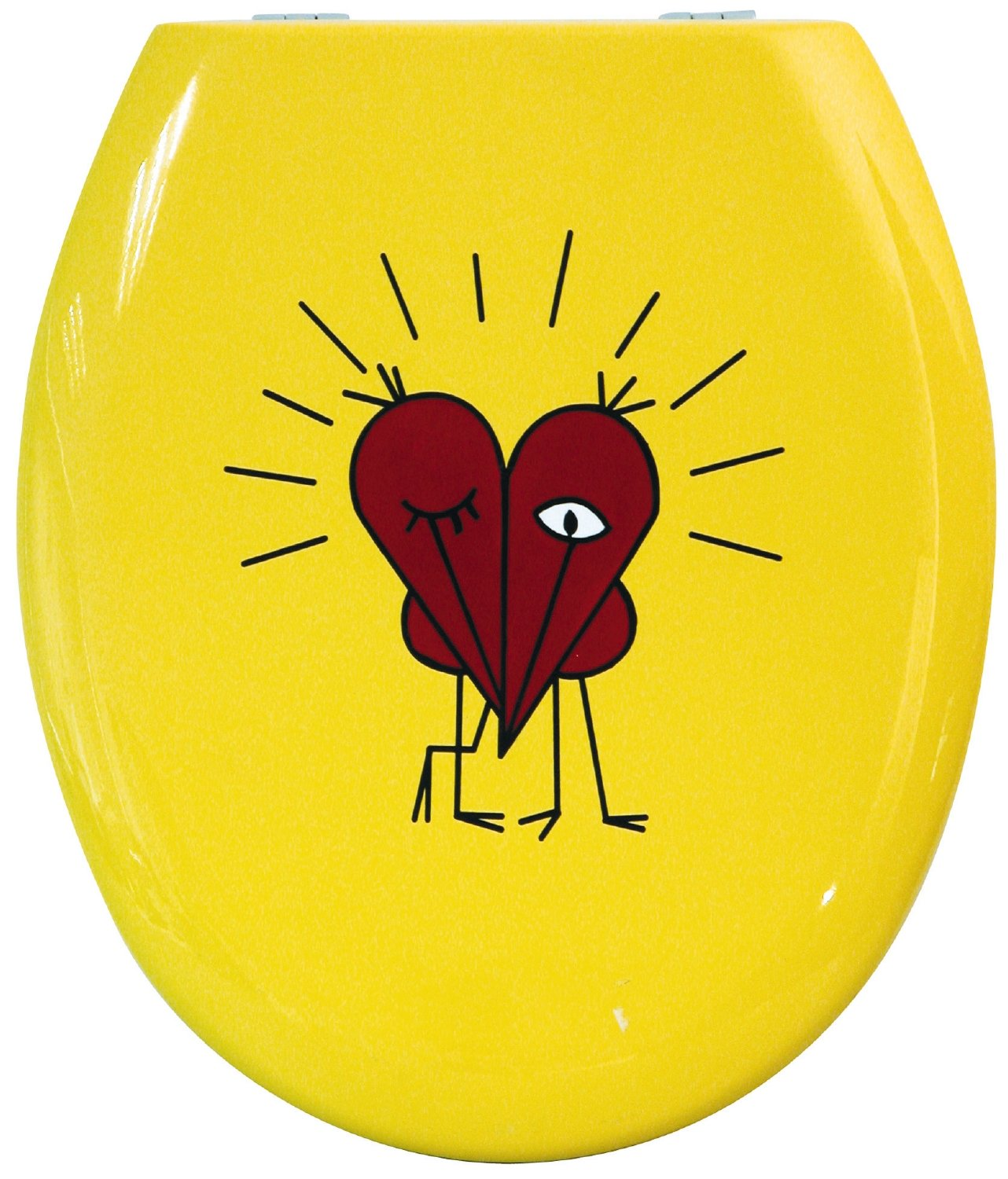 Bemis Gallery Collection Love Birds, Voegel Rot Toilet Seat by Bemis