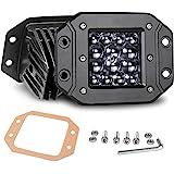 Nirider Flush Mount LED Pods, 2PCS 84W Bumper Lights 5 Inch Spot Beam Driving Lights LED Light Bar Flush LED Work Light…