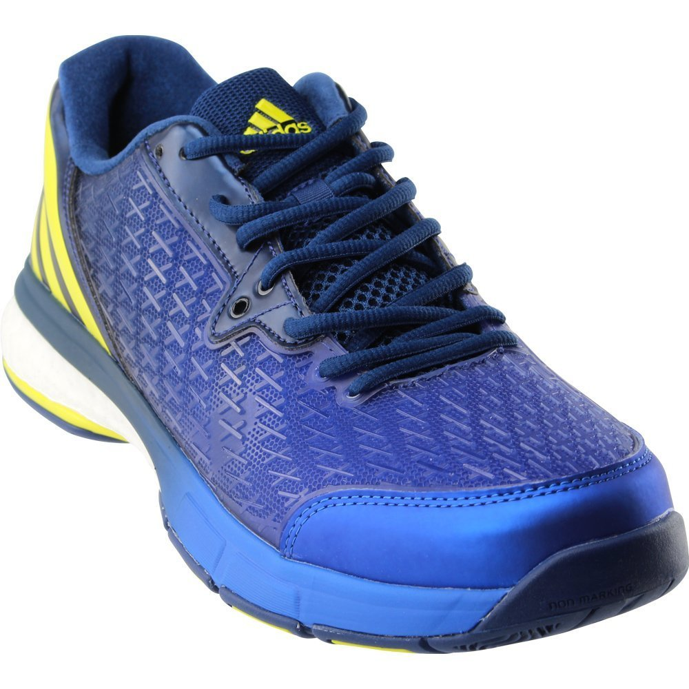 adidas Men's Energy Volley Boost 2.0 Volleyball Shoe, Mystery Blue/Lemon Peel/Satellite, 7.5 M US