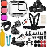 Accessoires Kit voor GoPro Hero 9 Zwart, Accessoire Bundel Set voor Hero 9 Zwart, Waterdichte Behuizing Case+Rubber Case…