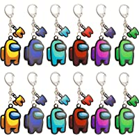 12pcs Among-US Keychains&Silicone Among-US Keychain Pack of 9 for Among Us Fans