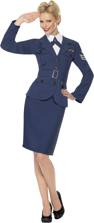 taglia UK 08-10 S Smiffys Capitano donna dellaeronautica WW2 Air Force Blu