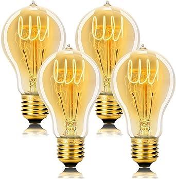 Pack 3 Vintage Retro Old Fashioned G80 E27 60W 220V Tungsten Filament Screw Light Bulb Warm White Decorative Edison Bulbs