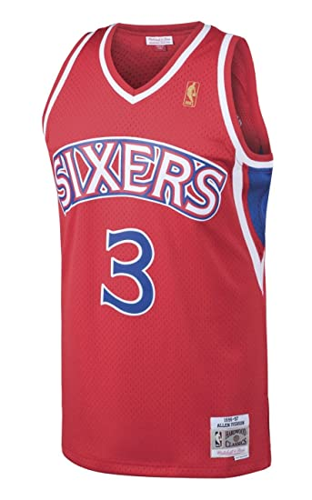 sneakers for cheap f320b 4a5b1 Mitchell & Ness Allen Iverson Philadelphia 76ers NBA Throwback Jersey - Red