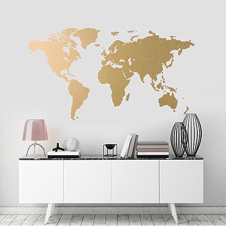 822e119152e World Map Wall Sticker