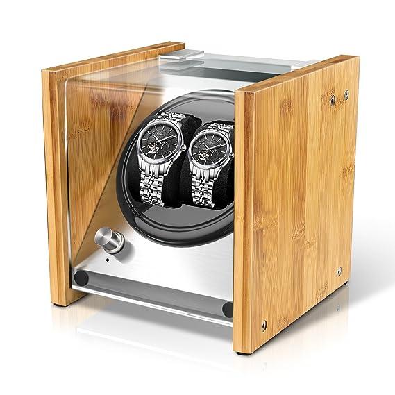 f6e156fac Expositor de relojes Watch Winder Smith® para 2 relojes, 5 modos, motor muy