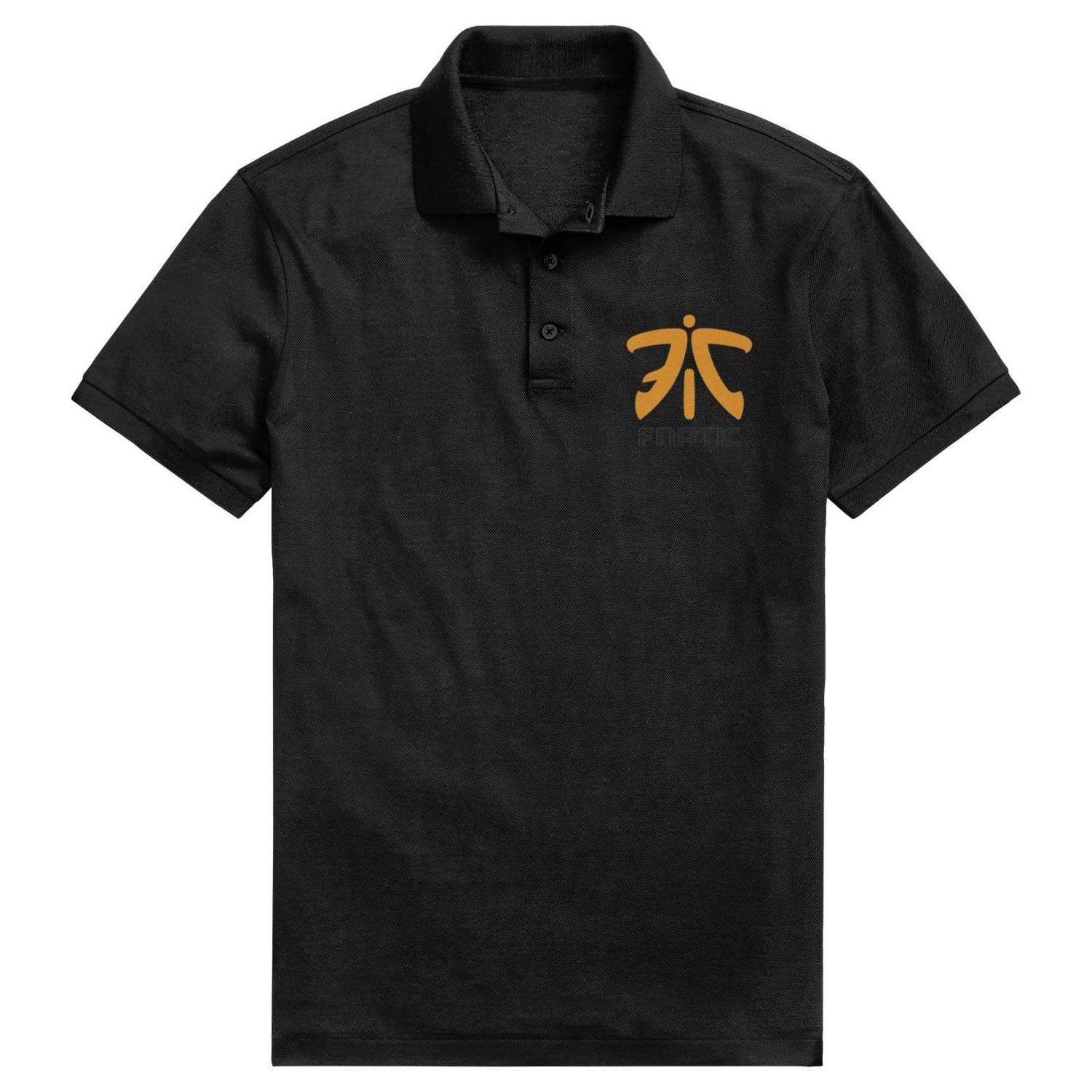 HTLYT Fnatic-Logo Mens Casual Pique Polo T Shirt Fitness Adjustable Outside Short-Sleeves