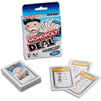 Monopoly Deal- Card Game- Short Play- 2 to 6 Players- Family Board Games- Ages 8+, White, Blue