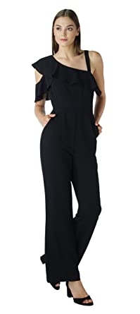 2e467cac2f0c Amazon.com  Adelyn Rae Wilma Woven Jumpsuit  Clothing