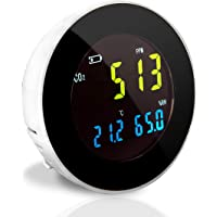 Pyle Smart Indoor Air Quality Monitor - Digital Hygrometer Thermometer Test Gauge, Air Tester for Home, Pollution Sensor…