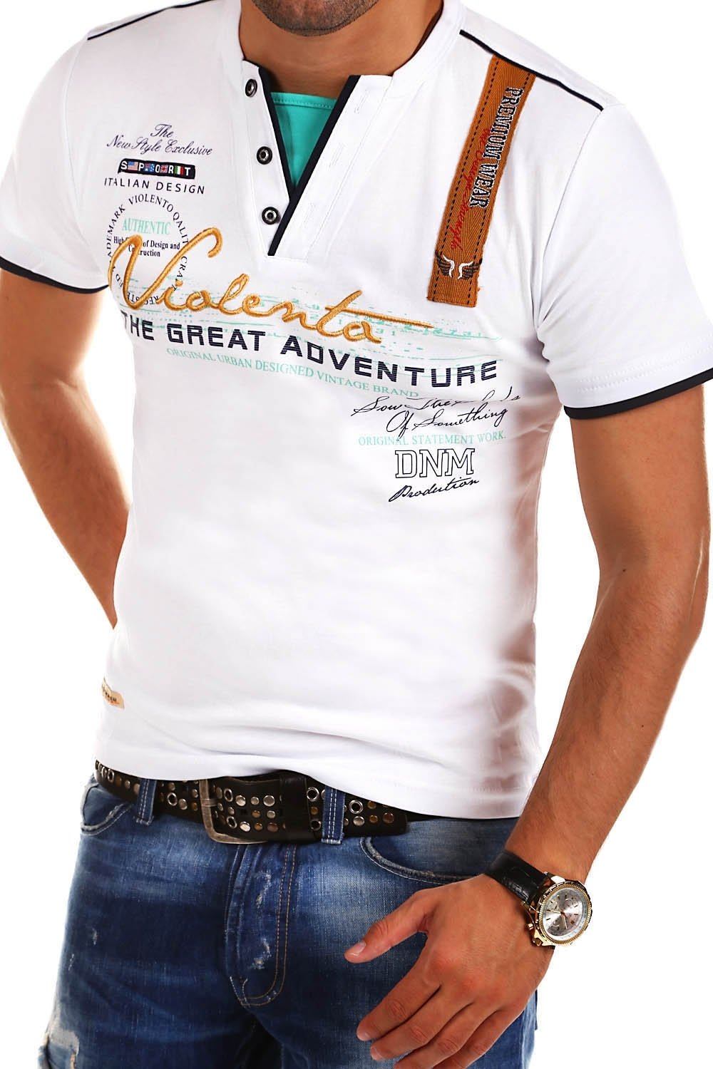 MT Styles 2in1 T-Shirt ADVENTURE short sleeve R-2693: Amazon.co.uk: Clothing