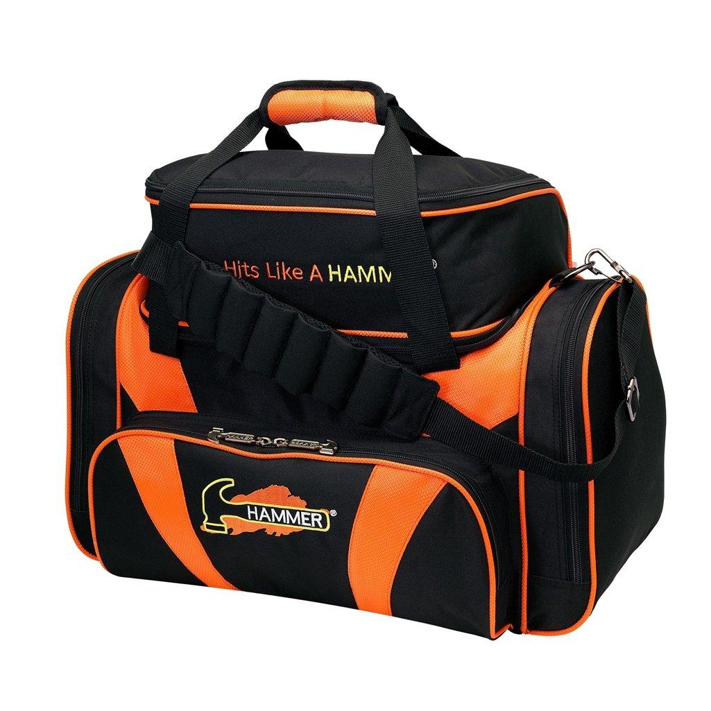Hammer Premium Deluxe Double Tote Bowling Bag, Black/Orange