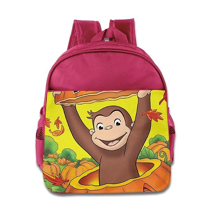 Kids Curious George School Backpack Cool Children School Bag Pink b31af6b4a