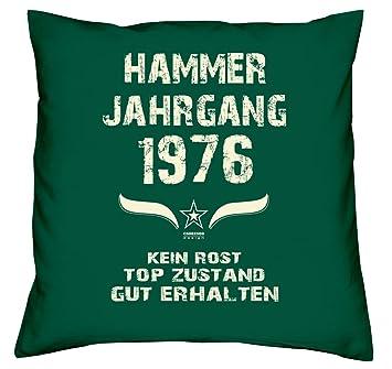 Hammer Jahrgang 1976 Sprüche Kissen 40x40 Für Die Ganze