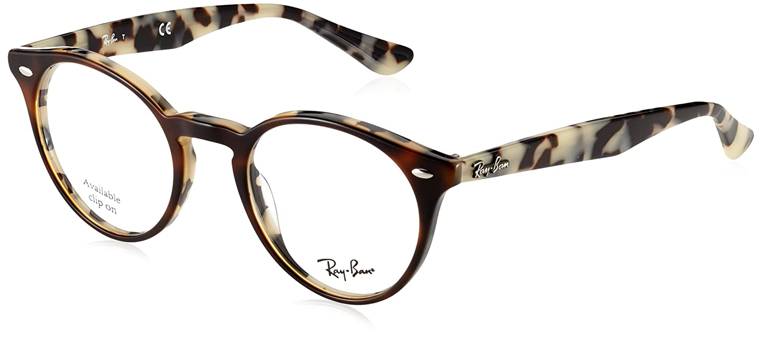 10b64a2973 Amazon.com  Ray-Ban Men s RX2180V Eyeglasses Top Brown Havana On Avana Beig  47mm  Clothing