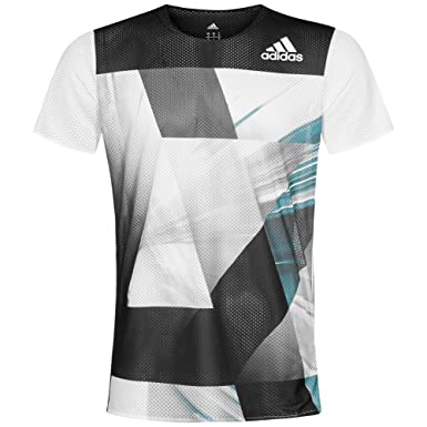 11e80226b79 adidas Adizero Short Sleeve Mens Running Top - White-XXL: Amazon.co.uk:  Clothing
