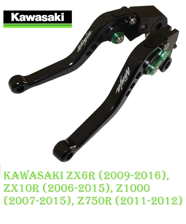 Maneta palanca de embrague y de freno regulable para KAWASAKI ZX6R (2009-2016) ZX10R (2006-2015) Z1000 (2007-2015) Z750R (2011-2012) (largo)