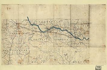 Amazoncom 1863 Map of NW Alabama  NE Mississippi of