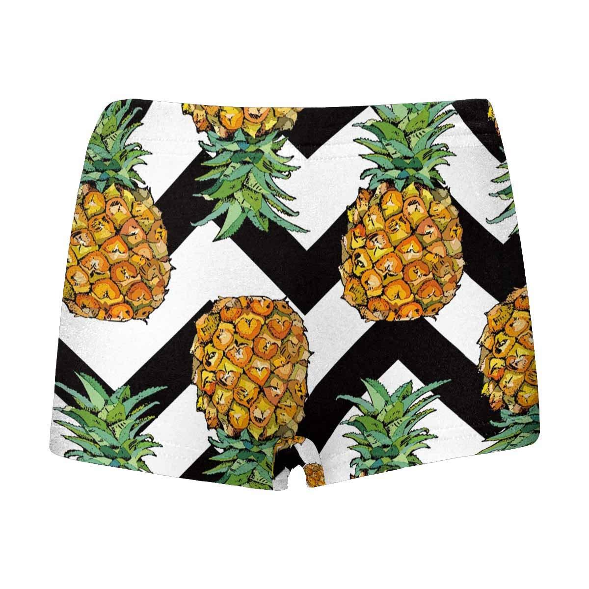 5T-2XL INTERESTPRINT Kids Pineapple Fruit Art with Chevron Pattern Comfortable Breathable Briefs