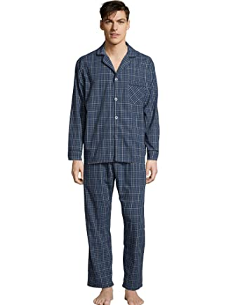 805e07862d7d Hanes Mens Woven Pajamas (LSLLBCWM) at Amazon Men s Clothing store