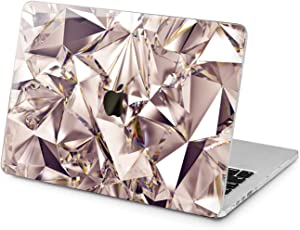 "Cavka Hard Shell Case for Apple MacBook Pro 13"" 2019 15"" 2018 Air 13"" 2020 Retina 2015 Mac 11"" Mac 12"" Design Laptop Cover Print Triangulated Protective Crystal Lux Plastic Abstract Diamond Texture"