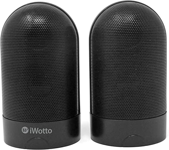 iWotto Altavoces Duo Estereo Bluetooth Imantados, Stereo Duo Speakers BT Magnetized, Color Negro: Amazon.es: Informática