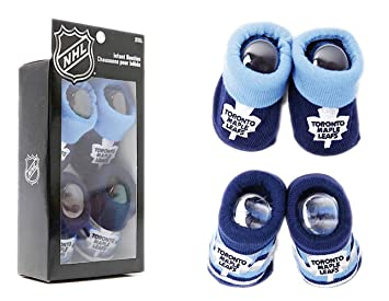 sale retailer c1070 b7694 NHL Toronto Maple Leafs 2 Pairs Infant Booties Slippers ...