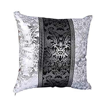 Oyfel Taies d'oreiller Housse Coussins Style Chinois Baroque Rétro