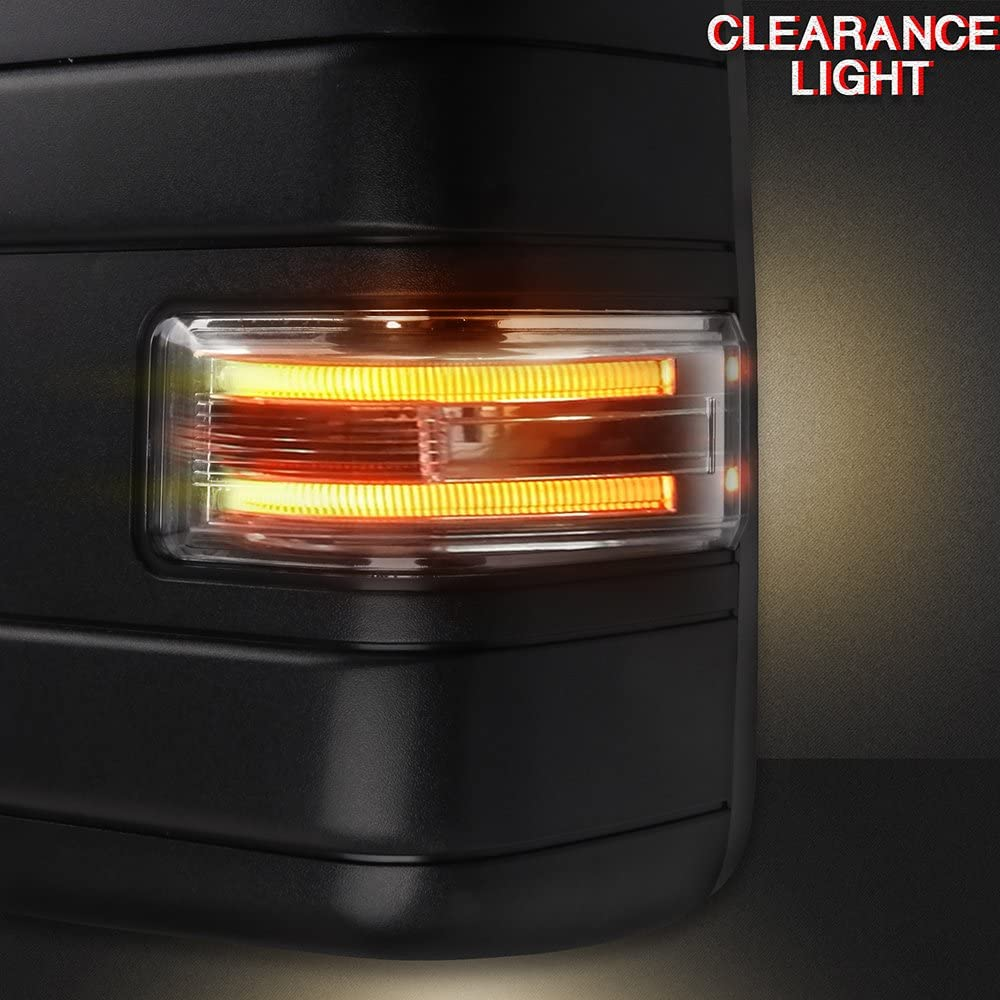 for Ford F150 Towing Mirrors with Puddle Lights Black Rear View ...