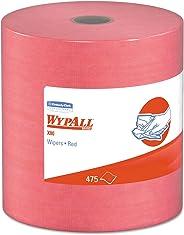 WypAll 41055 X80 Cloths, HYDROKNIT, Jumbo Roll, 12 1/2 x 13 2/5, Red, 475 Wipers/Roll