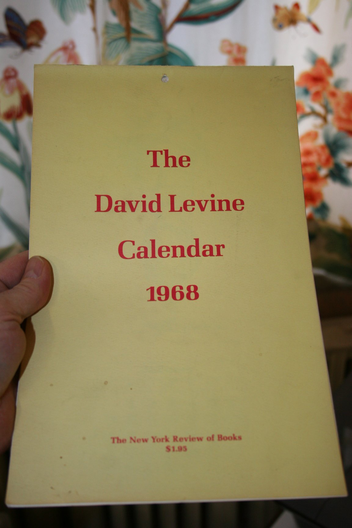 David Levine Calendars From the New York Review of Books, david levine