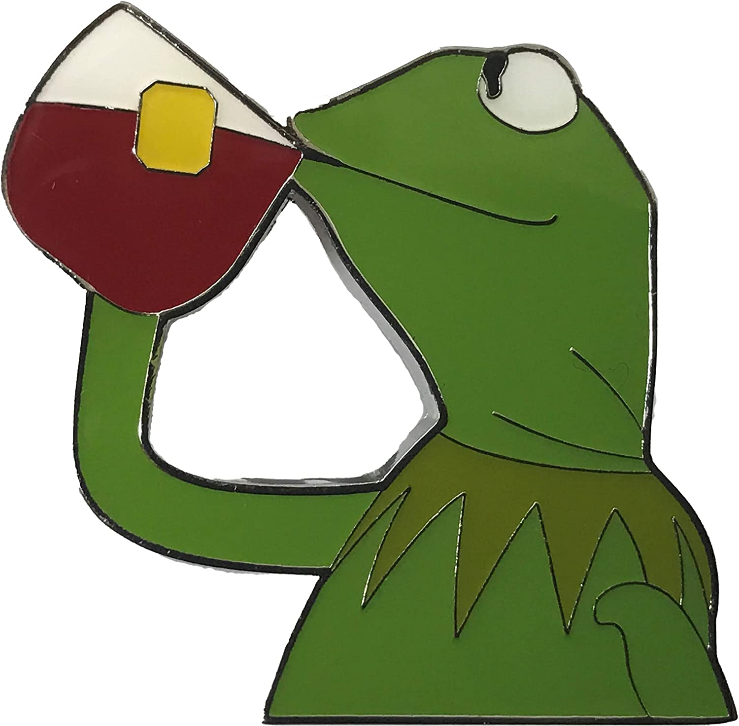 Balanced Co. Kermit None of My Business Enamel Pin Kermit Pin Kermit Sipping Tea Lapel Pin