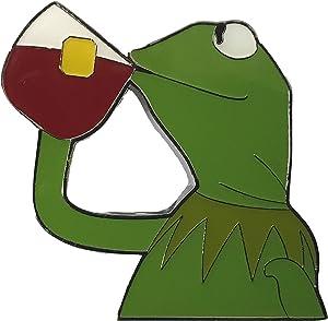 Balanced Co. Kermit None of My Business Enamel Pin Kermit Pin Kermit Sipping Tea Lapel Pin