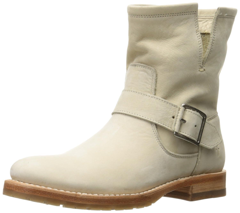 FRYE Women's Natalie Short Engineer Boot B01H5KHS0W 6.5 B(M) US|Ivory