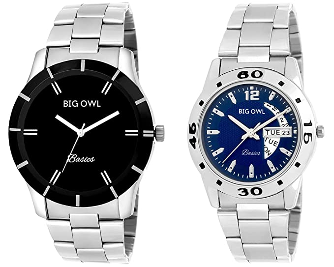 Analogue Blue Dial Couple Watches - (Pack of 2)