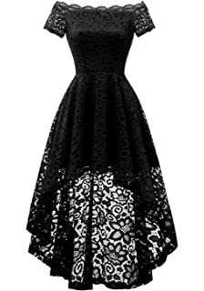 b7058e3b77 Dressystar Women's Lace Off Shoulder Hi-Lo Short Sleeve Formal Cocktail  Dress