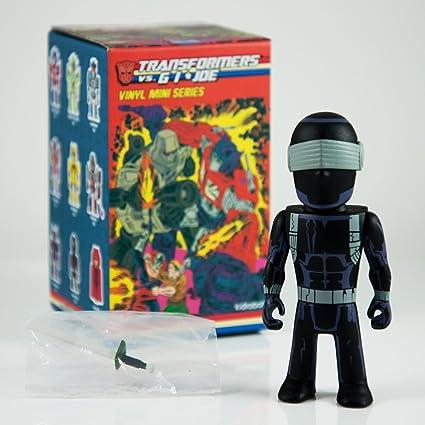 Snake Eyes G.I Joe 3-Inch Vinyl Mini-Figure Kidrobot Transformers VS