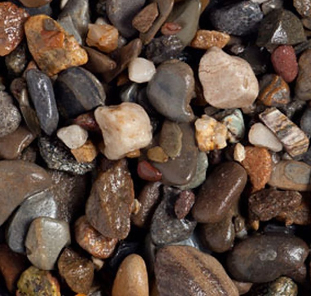 Safe & Non-Toxic {Various Sizes} 20 Pound Bag of Gravel, Rocks & Pebbles Decor for Freshwater Aquarium w/ Dark River Inspired Polished Smooth Rustic Natural Earth Toned Style [Black, Tan & Brown] by mySimple Products