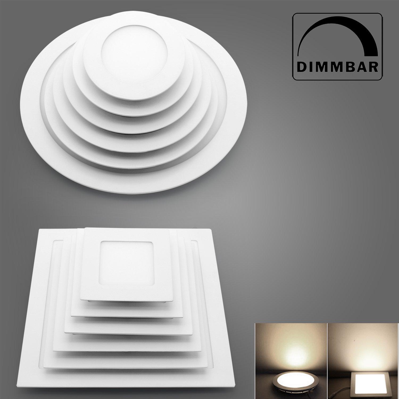 LED Panel Dimmbar Leuchte Deckenlampe 6//9//12//15//18W Ultraslim Unterputz Lampe