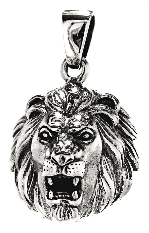 Löwenkopf Anhänger aus 925 Sterling Silber Nr. 279 Eastern Gems ABC-1377