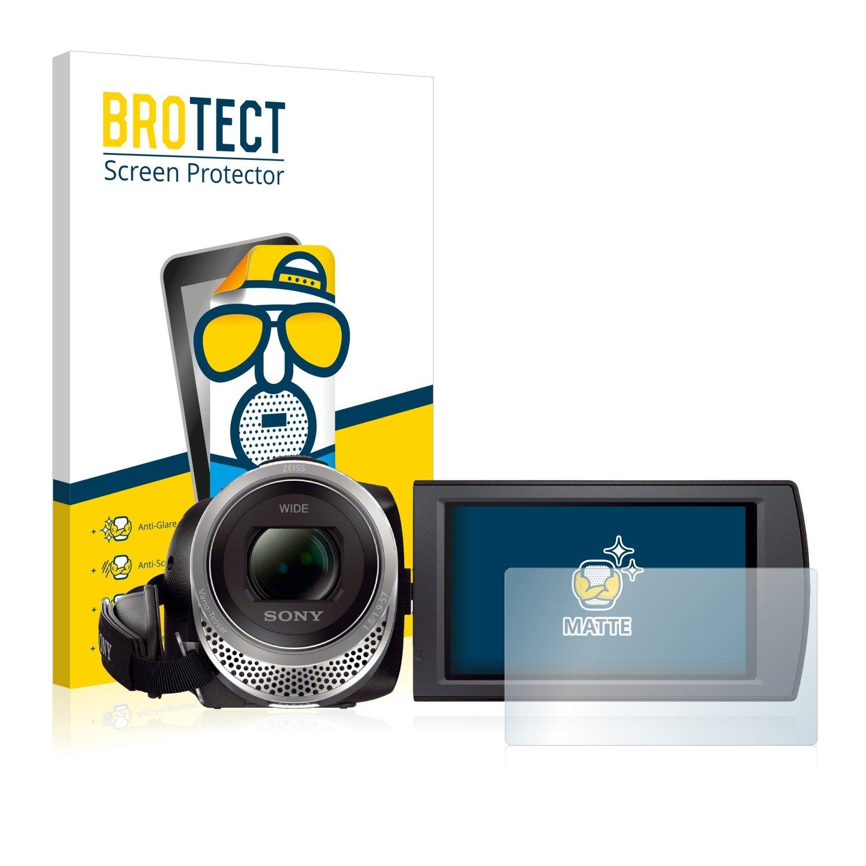 BROTECT Protector Pantalla Mate para Sony FDR-AX53 Pelí cula Protectora [2 Unidades] - Anti-Reflejos, Anti-Huella Bedifol