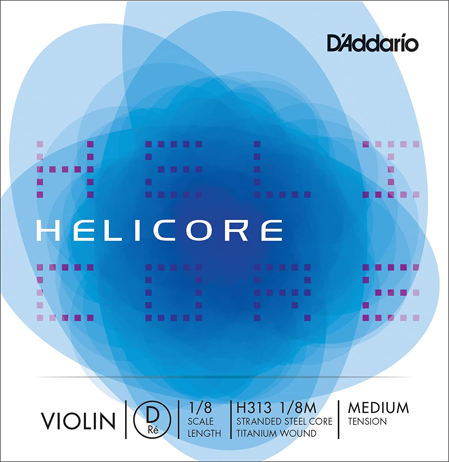 D'Addario Helicore Violin Single D String, 4/4 Scale, Heavy Tension D' Addario H313 4/4H