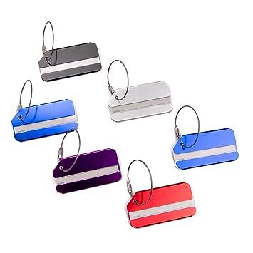 Vancool 10 paquetes Etiqueta de identificaci/ón del equipaje del recorrido del metal