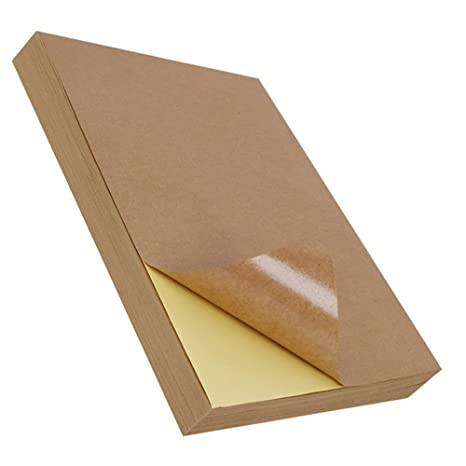 Amazon.com: Hoja de papel adhesivo Kraft marrón oscuro ...